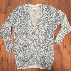 Rebecca Taylor Cashmere Leopard Cardigan - Size XS