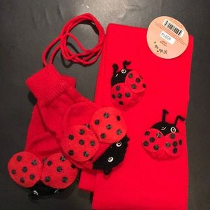 Other - Ladybug 🐞 scarf and mittens set for kids.