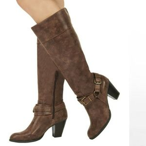 JustFab Audrie Brown boots