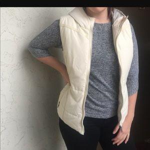 Cream puffy vest