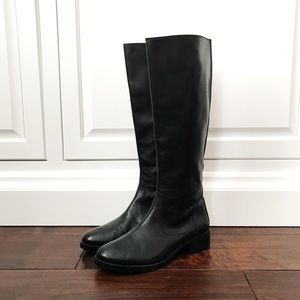 Donald J Pliner Black Leather Riding Boots
