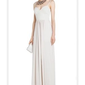 Bustier satin maxi gown
