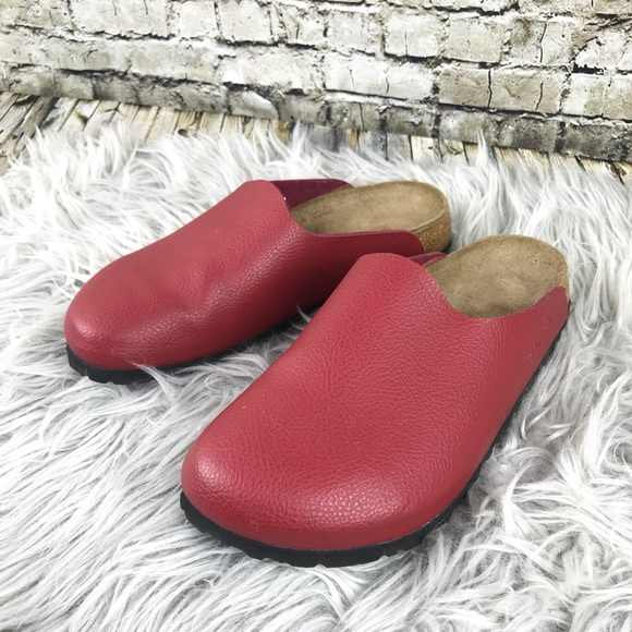 8253b79bf858 Birkenstock Shoes - Birkenstock Birki s Red Leather Boston Clogs