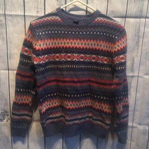 GapKids Boys XL(12) Blue & Orange pattern sweater