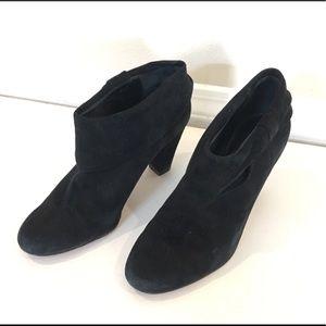 KATE SPADE Bison black suede cuff bootie