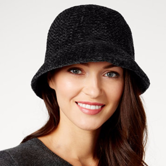 707b4df2c2a August Hats Chenille Cloche Black Hat NWT