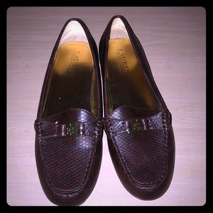 Brown Ralph Lauren flats