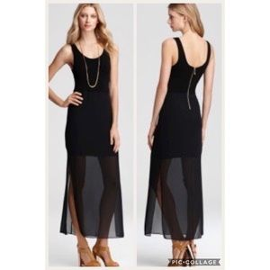 Chiffon Overlay Tank Dress