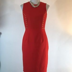 Calvin Klein Red sheath dress size 6 petite