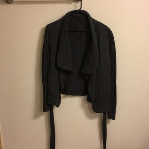 BCBG extra soft wrap tie jacket