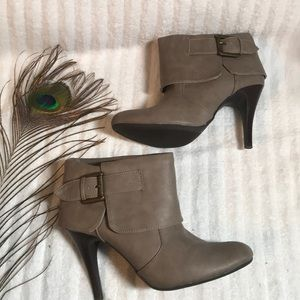 New directions ankle booties taupe color