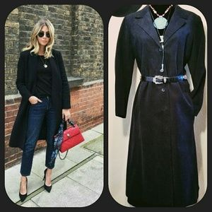 Vintage Black Ultrasuede Midi Coat Kaplair Couture