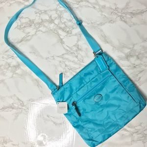 NWT Coach Turquoise GTY SIG NYL FILE BAG