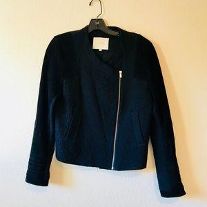 MAJE Black Suede Moto Jacket