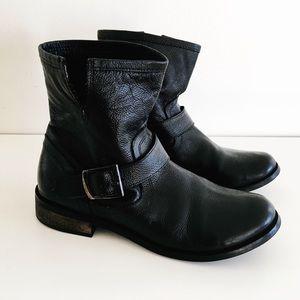 MIA Black leather biker booties