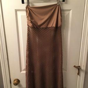 Foldover Crotchet Maxi Skirt