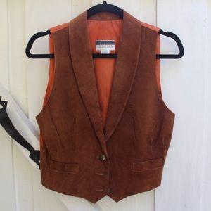 vintage 1970's suede vest