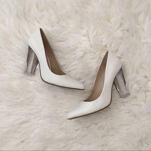 ALDO White Lucite Heels