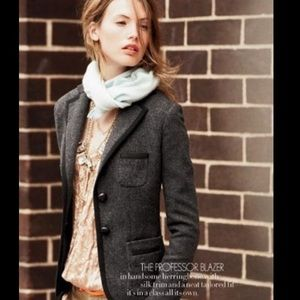 J Crew Wool Professor Blazer Style 17375