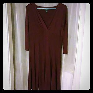 Ralph Lauren Wine colored dress size 12