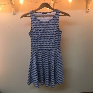 Blue and white align dress