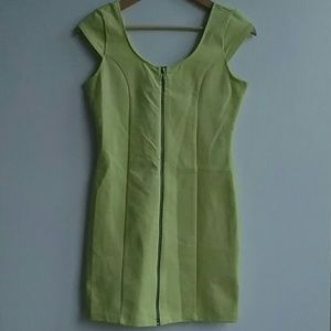 Divided Dress by H&M, Neon Green Zip Front 8