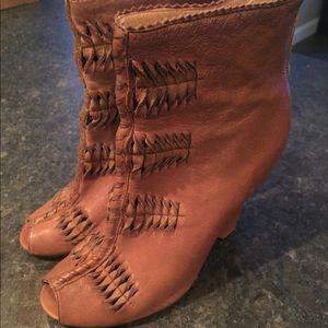 Sam edelman peep toe booties -sz 7.5