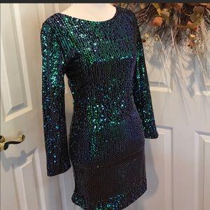 NWT Val Marie Mermaid Sequin Dress