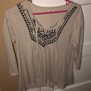 3/4 sleeve blouse hollister