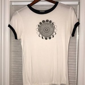 Pacsun white graphic tee shirt