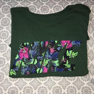 NIKE: printed floral logo tee