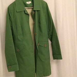 Ann Taylor LOFT Green Rain Coat