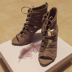 Jessica Simpson lace up heels