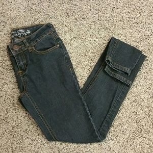 Girls Black WAX Jeans