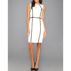 Calvin Klein black and white sheath dress - size 6