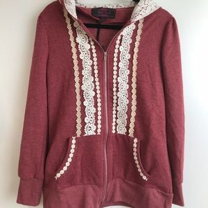 Modcloth red hoodie, Size L
