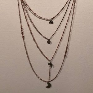 Free People Moon Layered Necklace