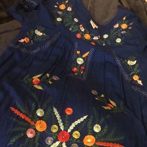 Flowered Mini Dress