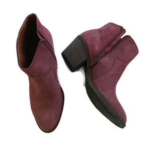 Lucky Brand Size 7 Maroon Booties