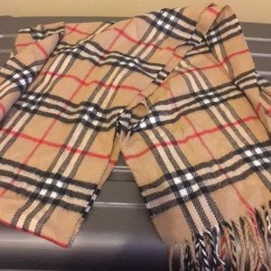 Other - Tan plaid scarf