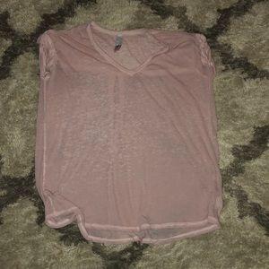 Free people pink shirt