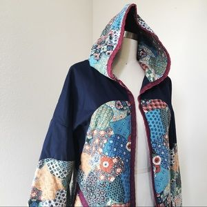 VINTAGE Patchwork Quilted Jacket with Hood