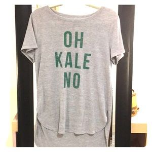 Oh Kale No gray graphic tee