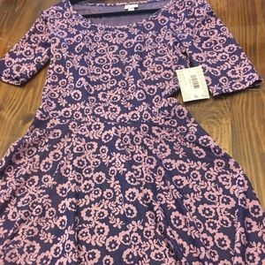 NWT Large Nicole Dress LuLaRoe purple Fall Floral