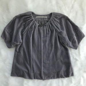 Velvet Jacket with Brooch