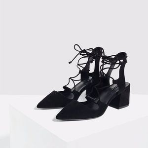 Zara Lace-Up Strappy Heels