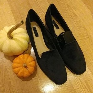 Black velour like shoes brand new with tags!