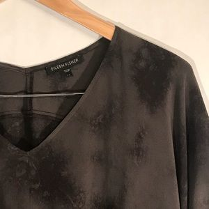 Eileen Fisher NWOT 100% Silk Tunic Top Blouse XS