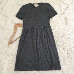 Michael Kors Grey Short Sleeve Knit Babydoll Dress