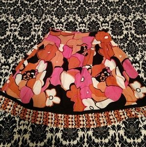 Pink and orange flower skirt